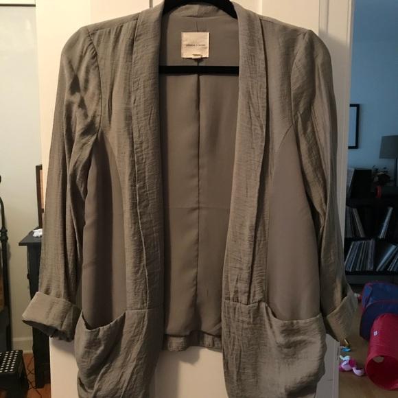 silence + noise Jackets & Blazers - Light olive green blazer